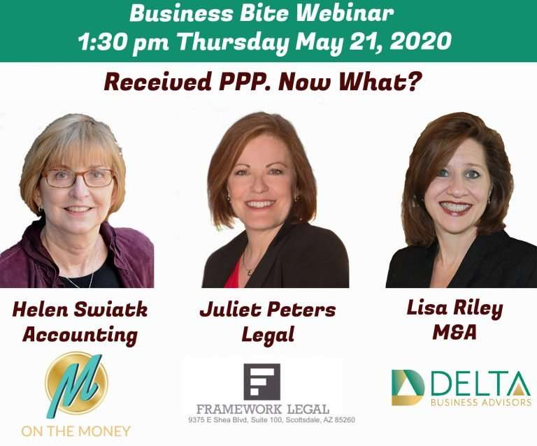 Business Bite Webinar:  Received PPP.  Now What?