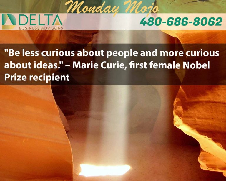 Monday Mojo – Marie Curie